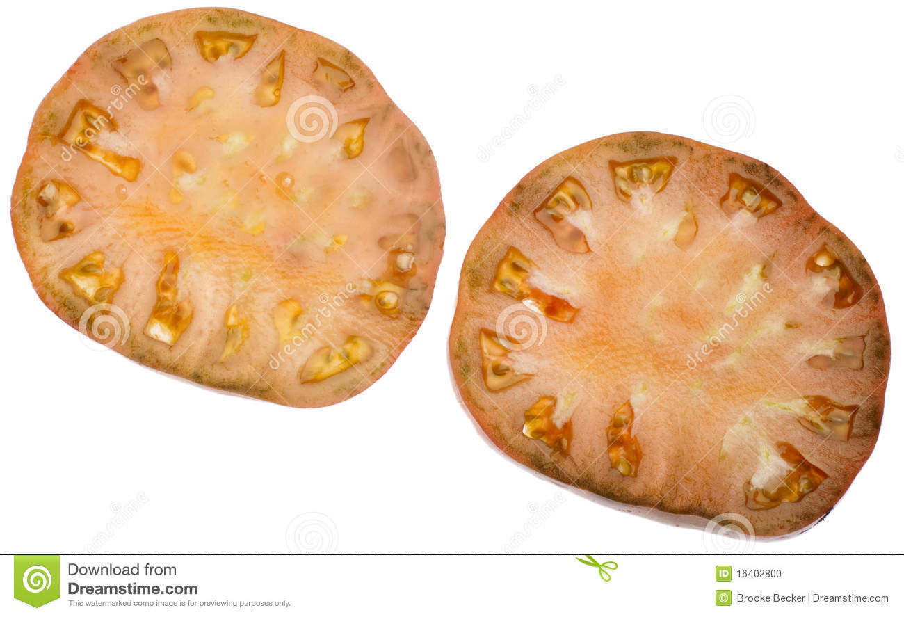 heirloom tomato slice stock photo image of isolated 16402800