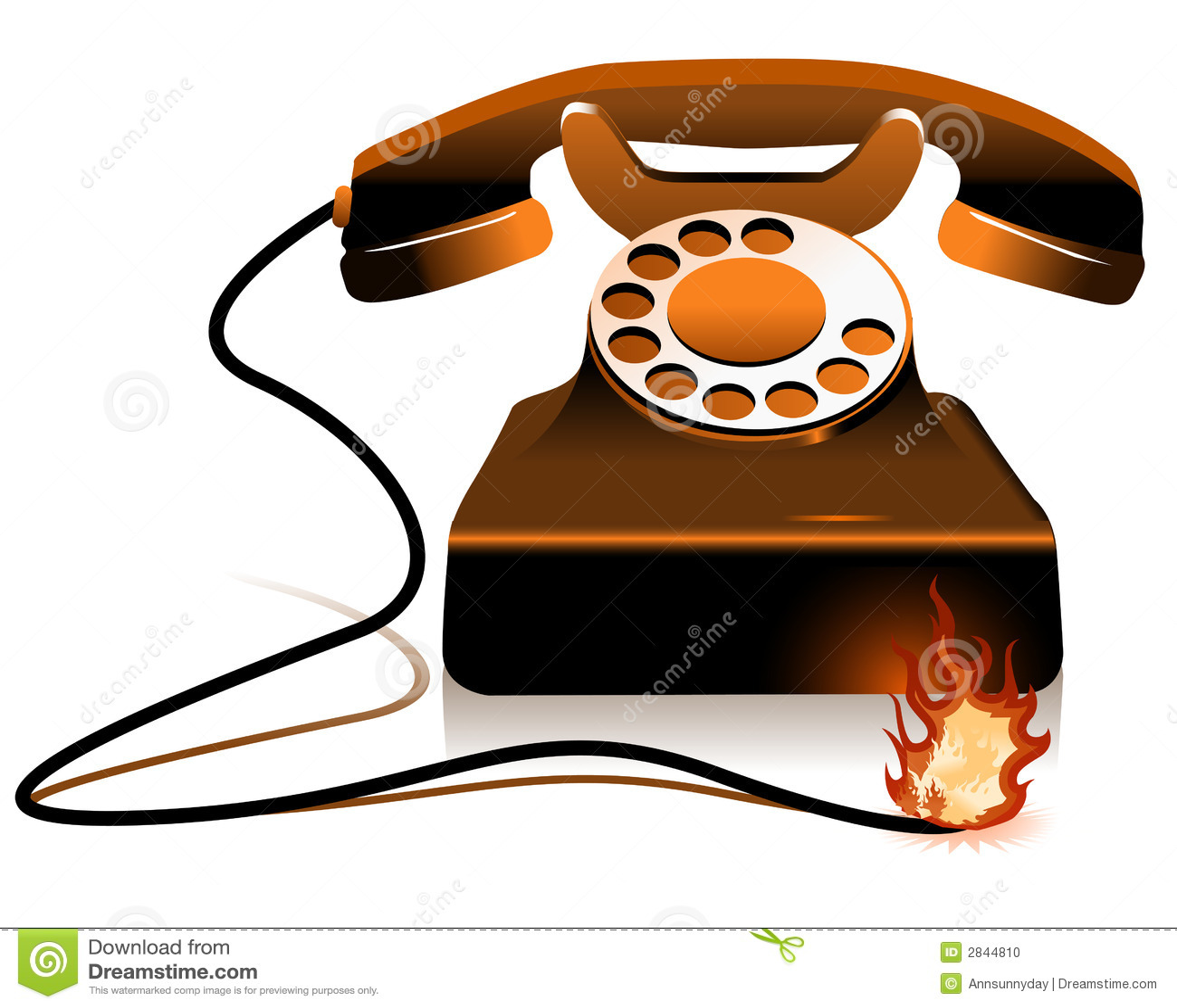 heisser draht brennendes telefon vektor abbildung illustration von netzkabel brand 2844810. Black Bedroom Furniture Sets. Home Design Ideas
