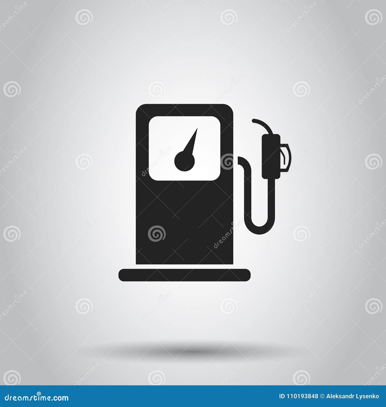 Heizgasstationsikone Vektorillustration auf lokalisiertem backgroun