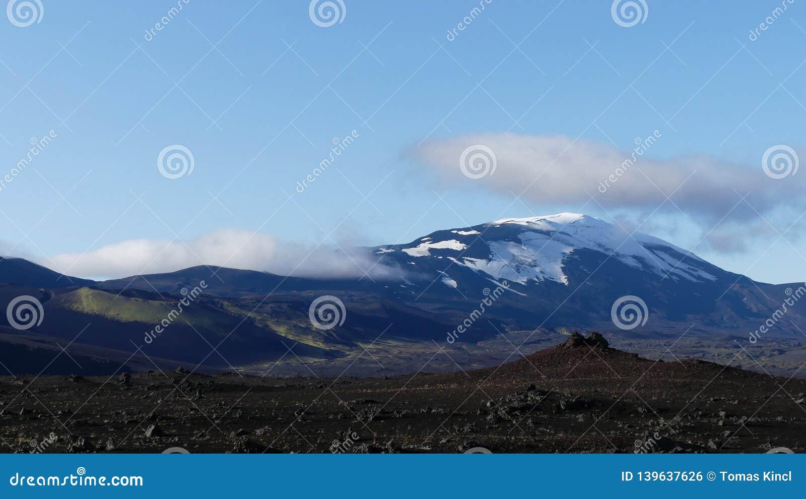 Hekla, одно из немногих активное vulcano в Исландии