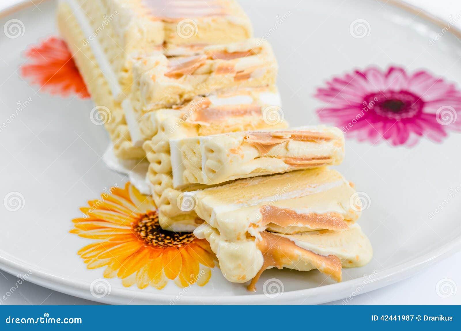 Helado, delicioso, postre, torta del helado, dulces, caramelo