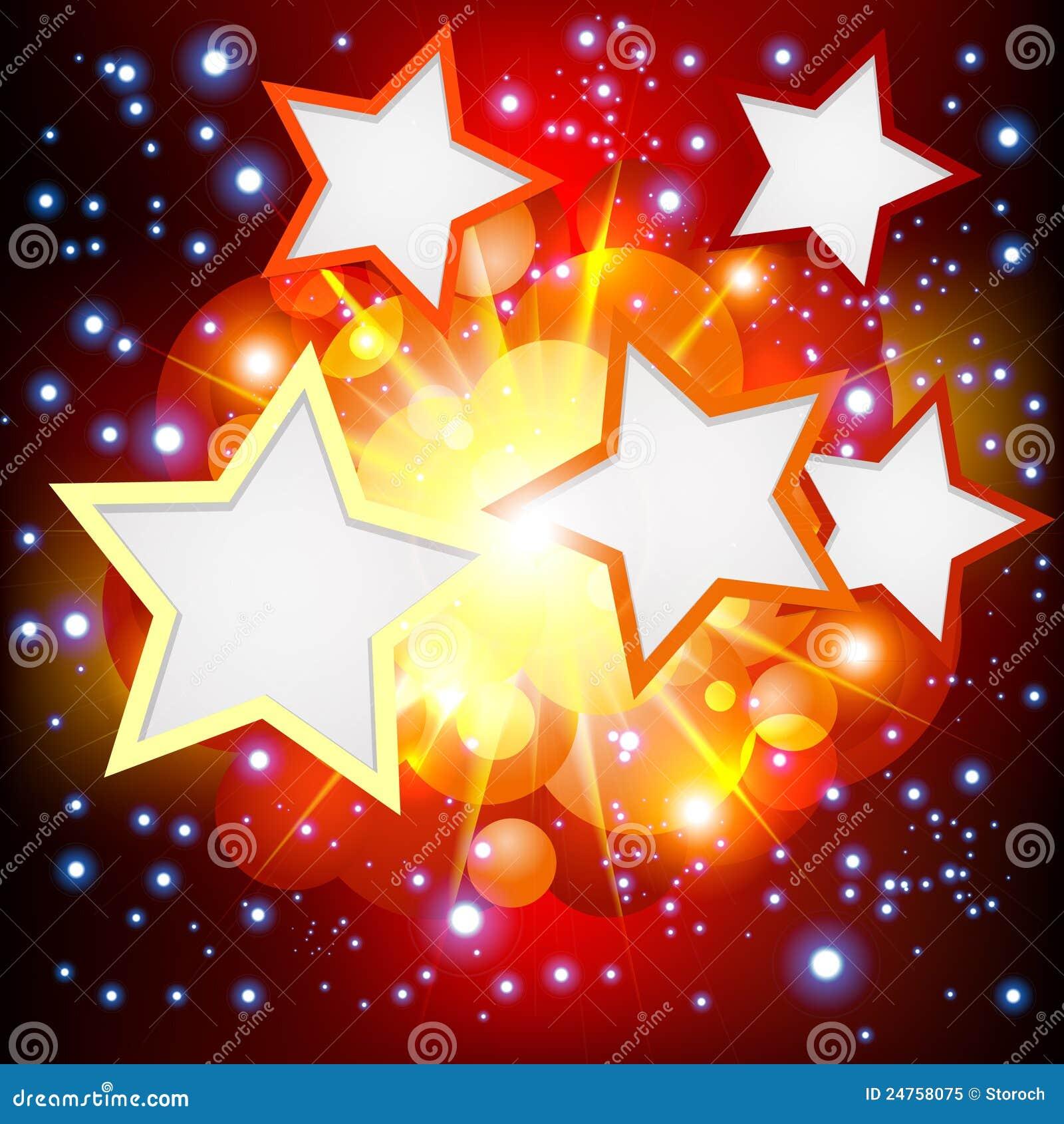 Helder de Achtergrond van de Explosie met vele sterren.