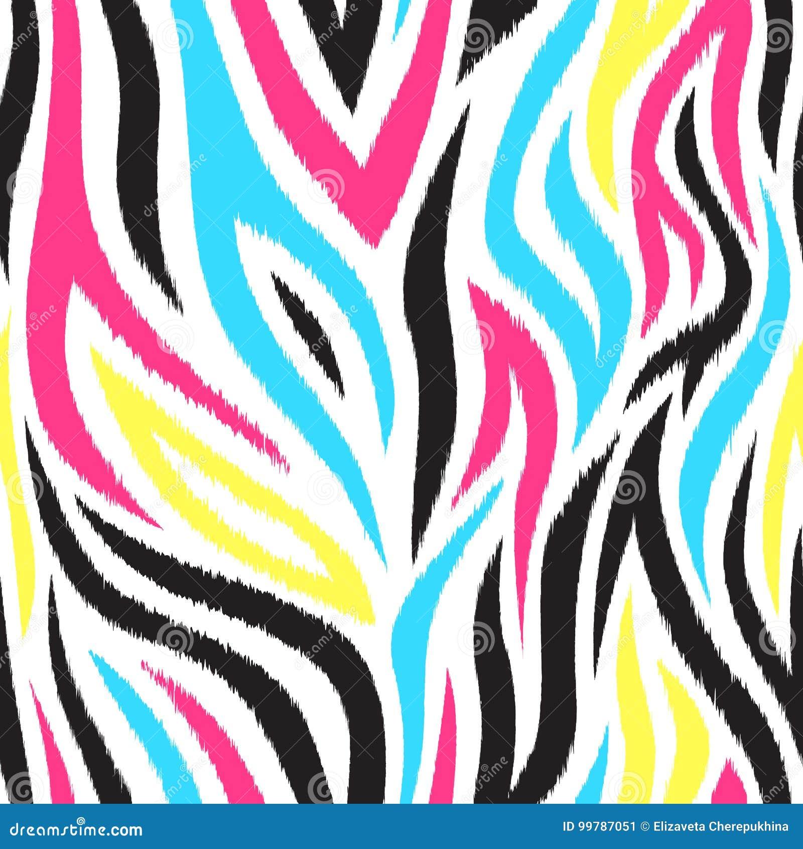 Helder en kleurrijk naadloos patroon met strepen Bohostijl