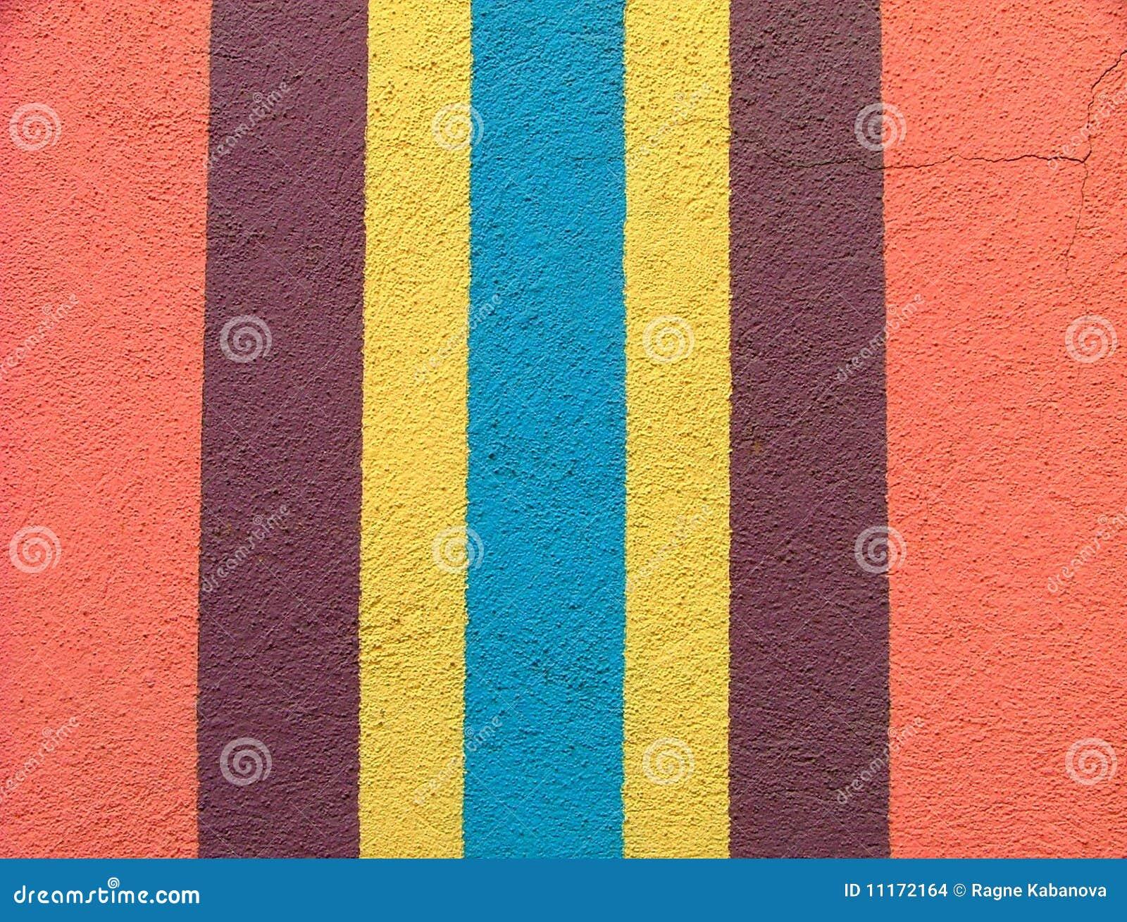 Helder gekleurde muur met verticale strepen stock afbeeldingen ...
