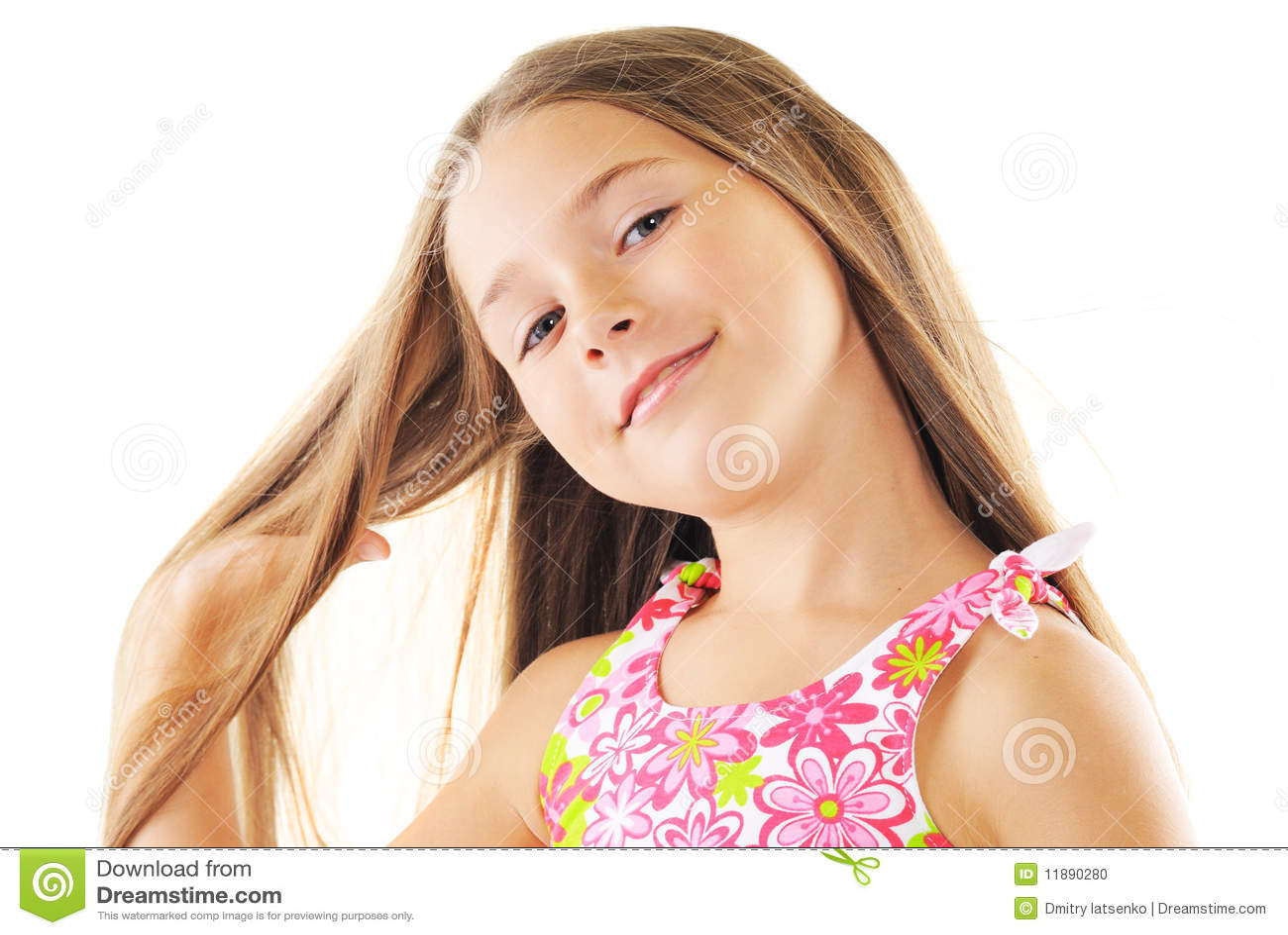 Helder portret van blond klein meisje op wit stock foto afbeelding 11890280 - Kleine teen indelingen meisje ...