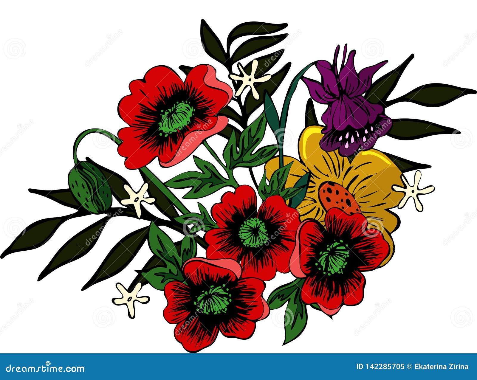 Heldere bloemenregeling