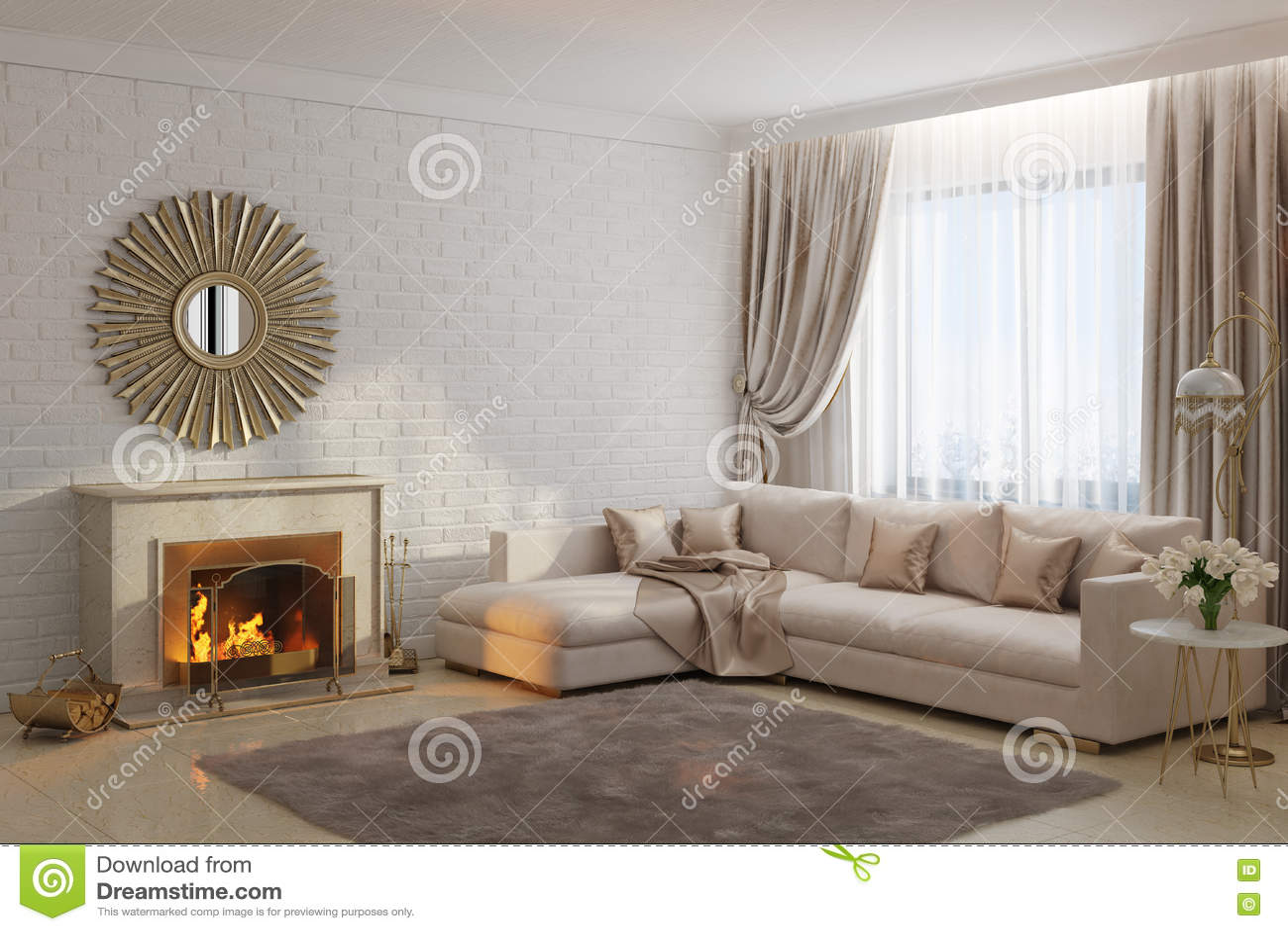 https://thumbs.dreamstime.com/z/heldere-en-comfortabele-woonkamer-met-open-haard-en-spiegel-78038115.jpg
