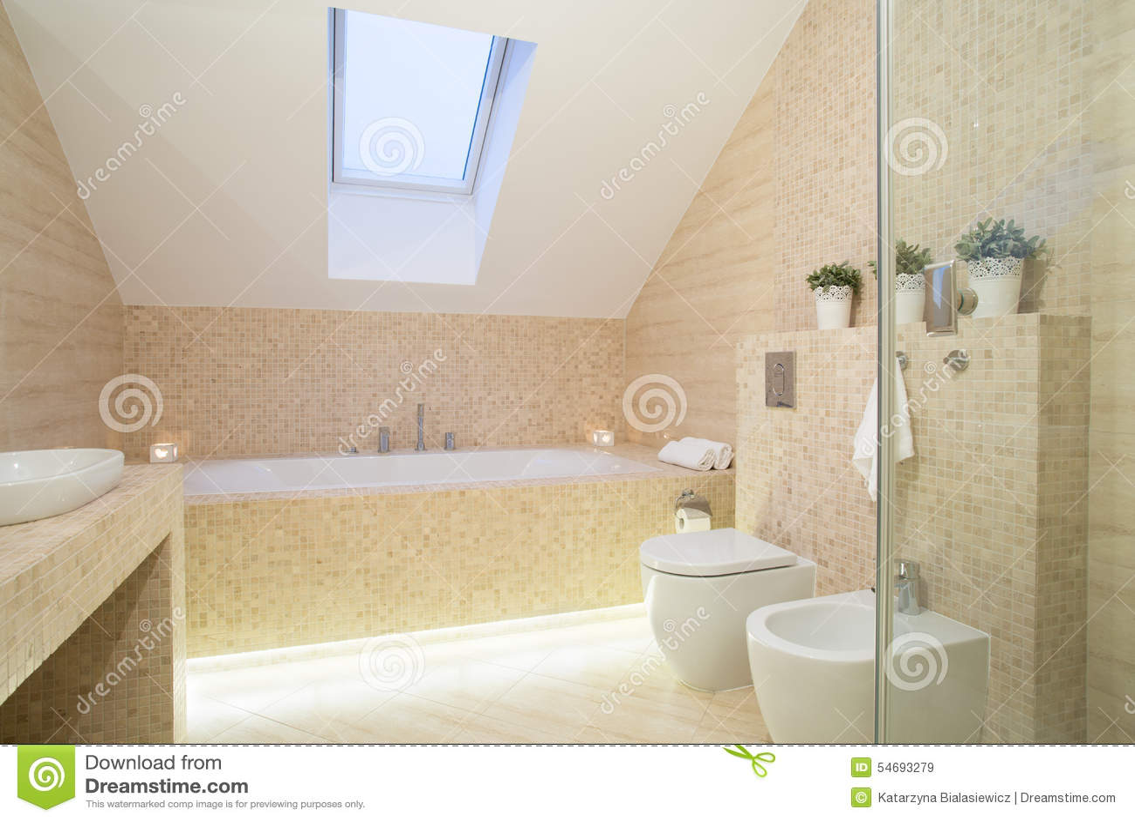 Heldere exclusieve badkamers stock foto afbeelding 54693279 - Badkamers ...