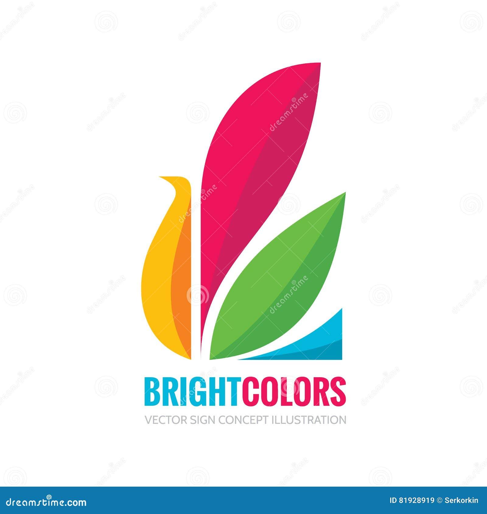 Heldere kleuren - vector het conceptenillustratie van het embleemmalplaatje in vlak stijlontwerp Vogel abstract creatief teken Mo
