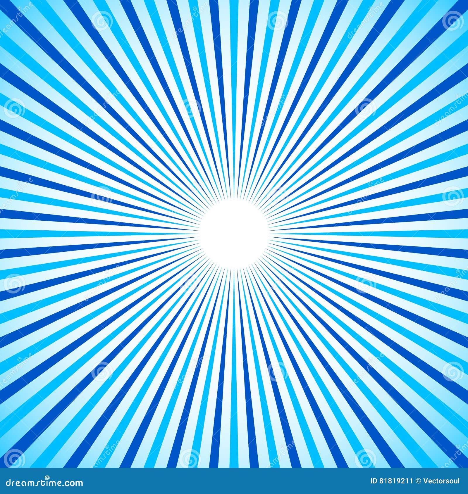 Heldere kleurrijke radiaal, uitstralend lijnen Starburst/zonnestraalbedelaars