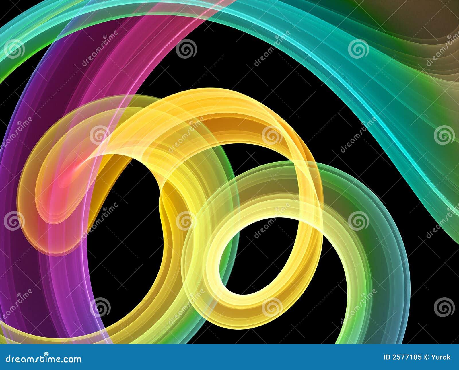 Heldere multicolored wervelingen