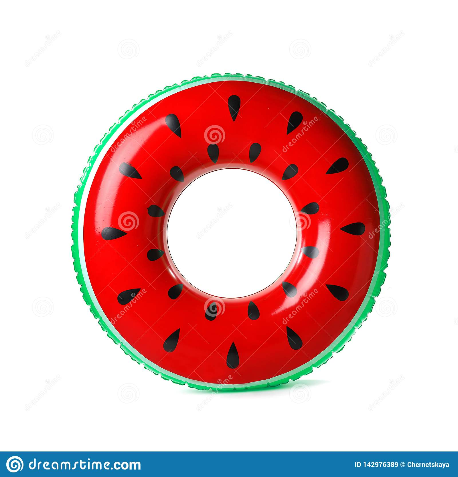 Heldere opblaasbare die ring op wit wordt geïsoleerd