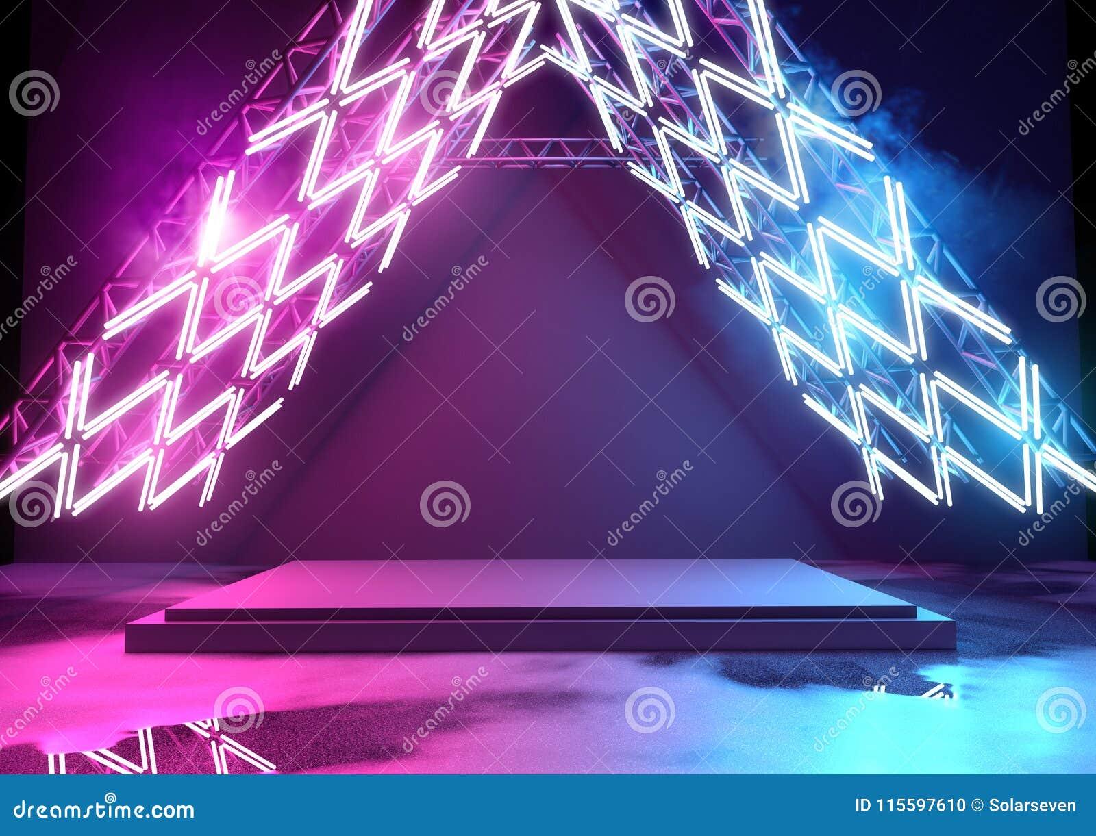 Heldere T.L.-verlichting en Platform