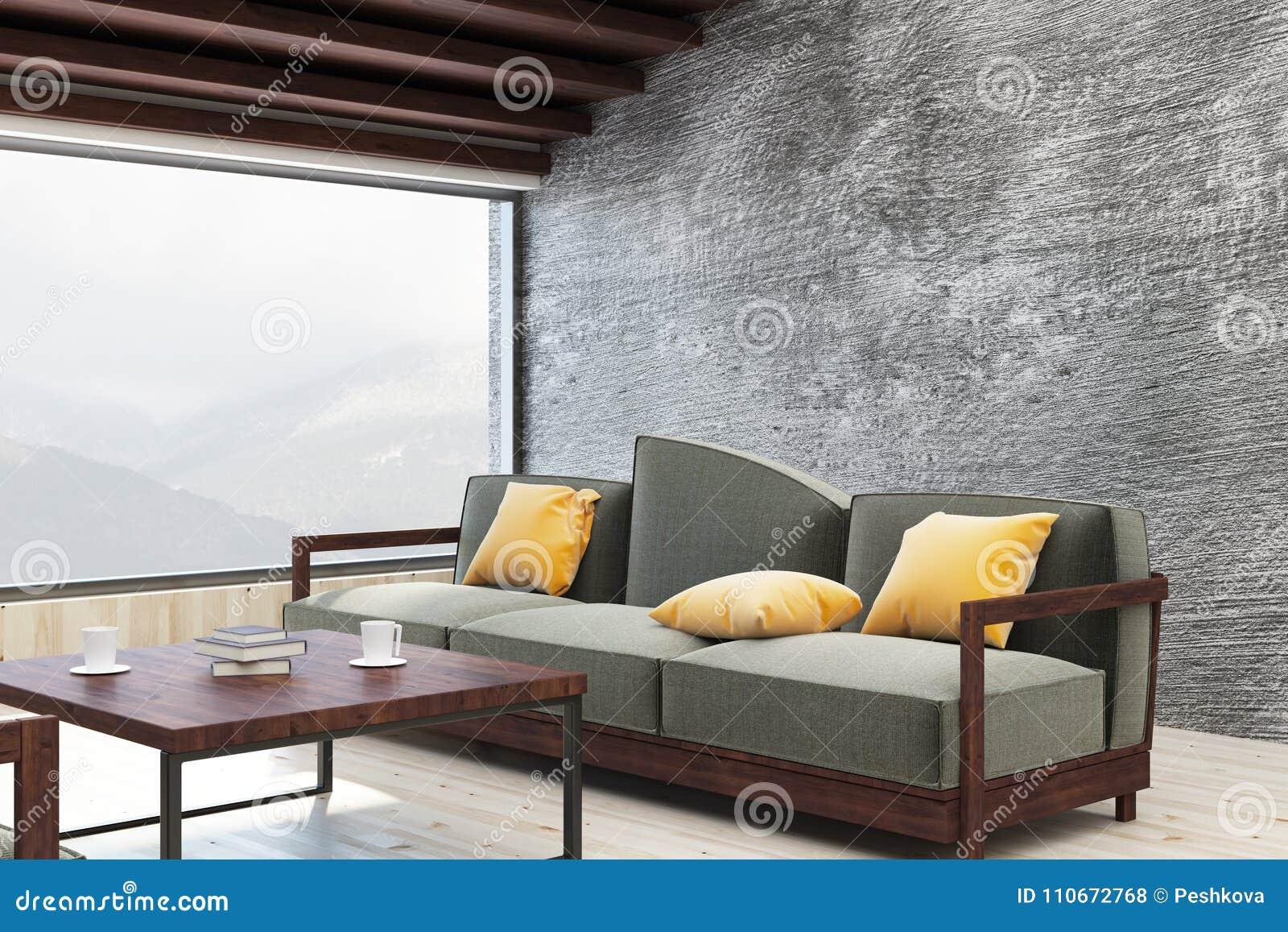 Heldere woonkamer met exemplaarruimte
