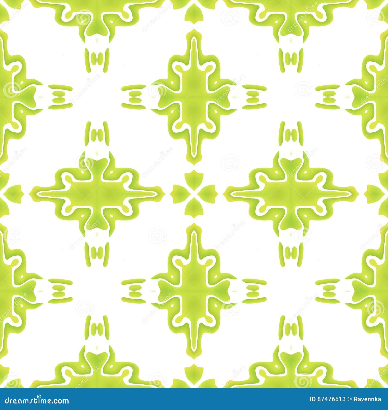 Heldergroen abstract naadloos patroon