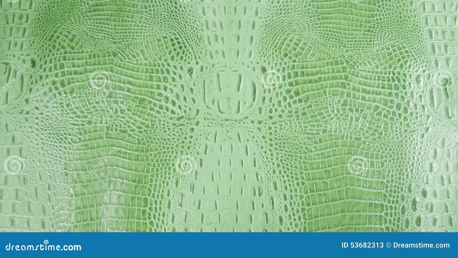 Heldergroene In reliëf gemaakte Gator-Leertextuur
