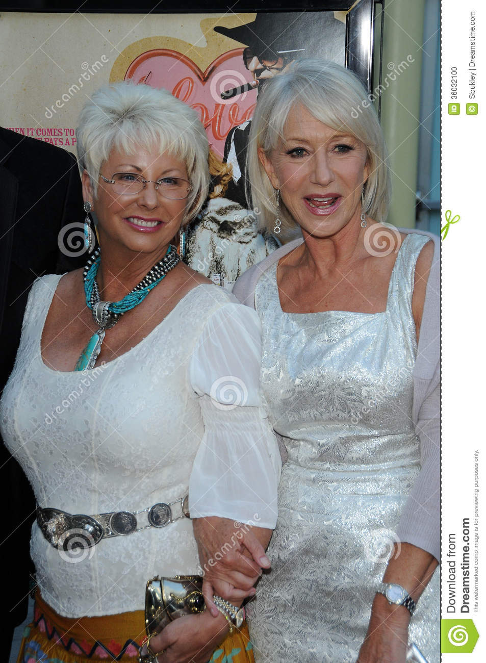 Madam Susan Austin And Helen Mirren At The Love Ranch Los Angeles Premiere Arclight Cinemas Hollywood Ca