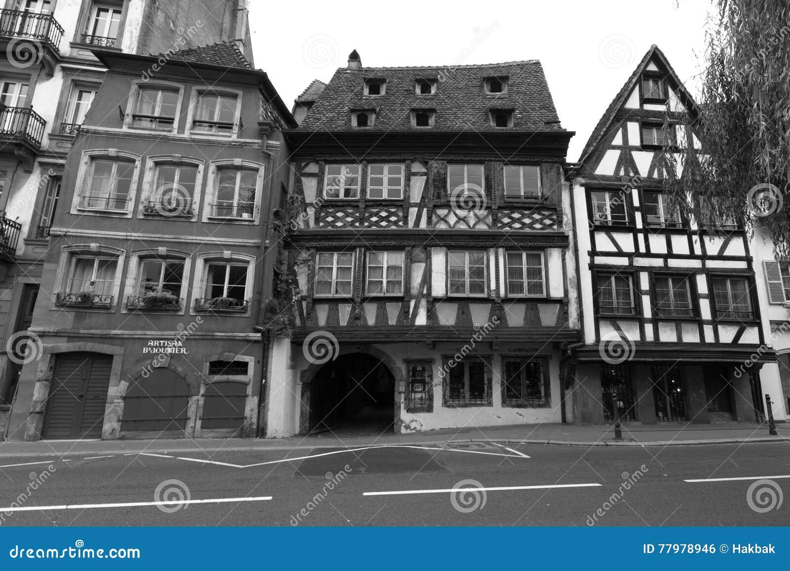 Helft-hout huis in Strassburg