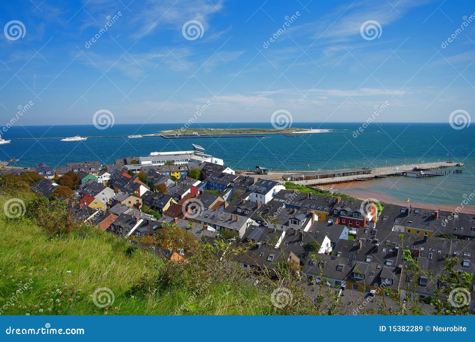 Helgoland island in germany hotels royalty free stock for Designhotel helgoland