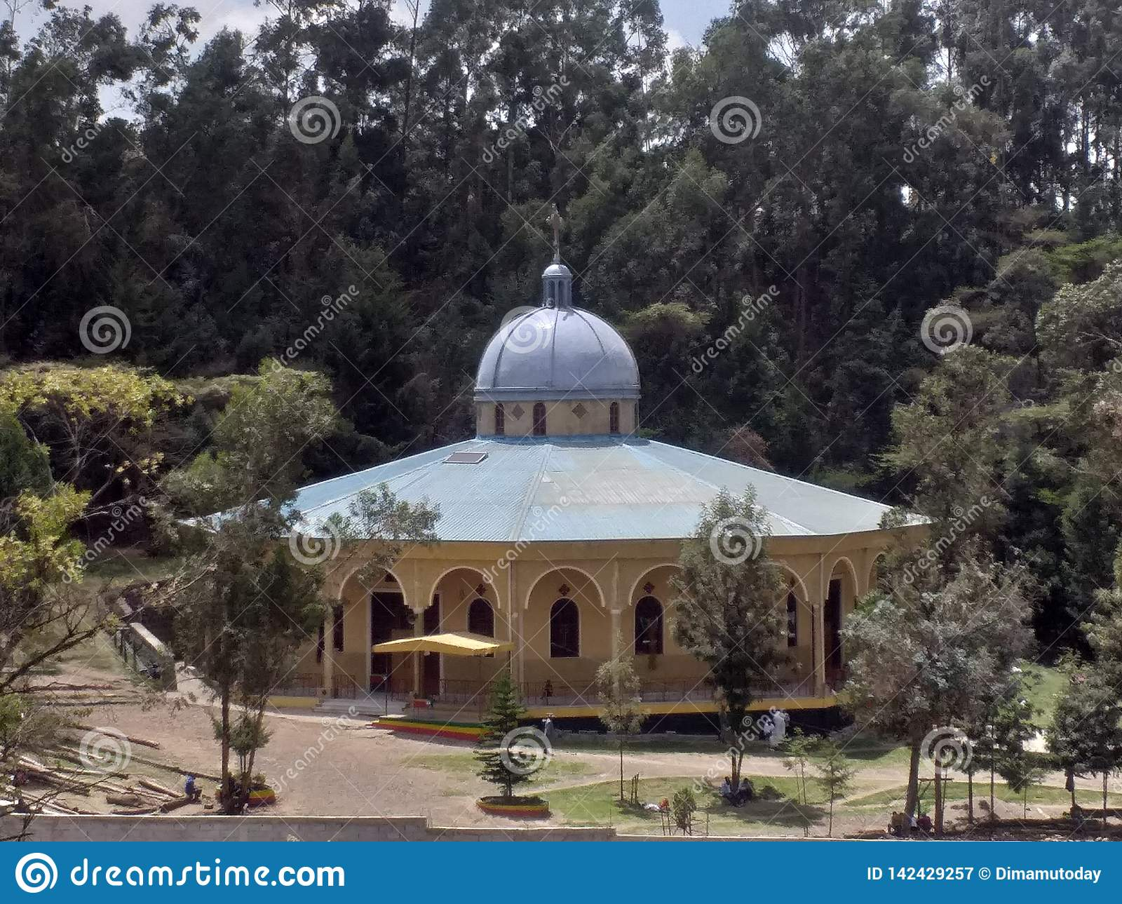 Helgon Gregory Ethiopian Orthodox Church Monastery i Addis Ababa