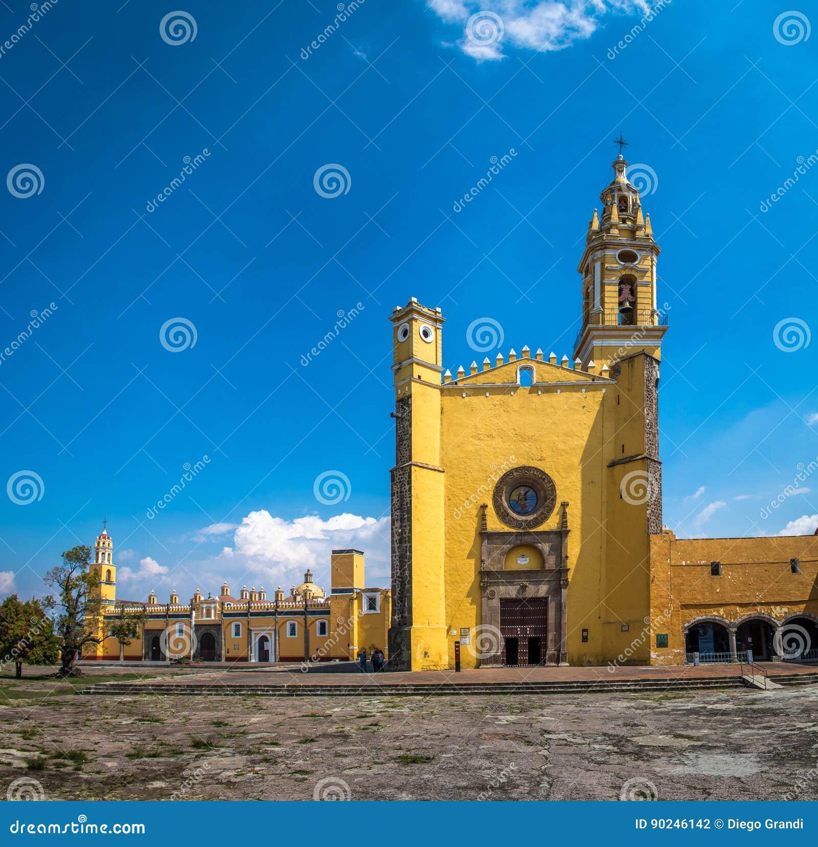 HelgonGabriel Archangel munkkloster Convento de San Gabriel - Cholula, Puebla, Mexico