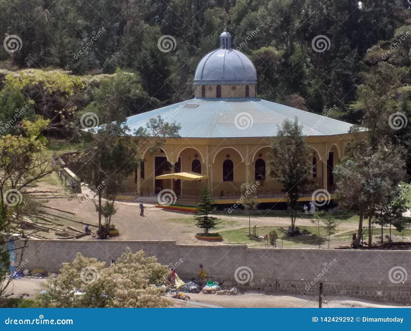 HelgonGregory Ethiopian Orthodox Church kloster i Addis Ababa, stamområde