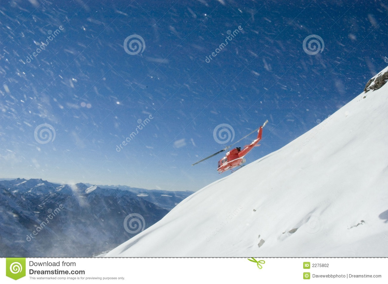 Heli-skiing in BC.