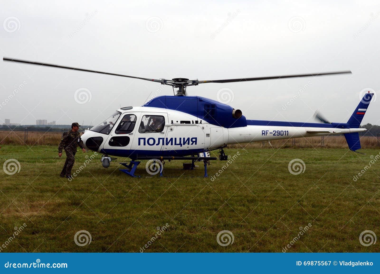 Elicottero 355 : Helicóptero da polícia eurocopter como no aeroporto fotografia