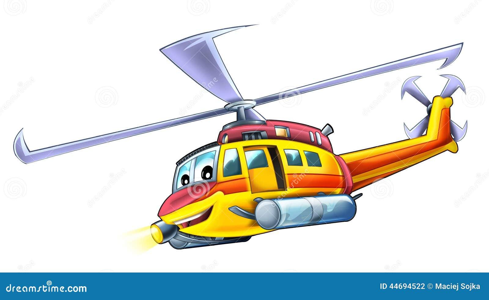 Helicóptero dos desenhos animados
