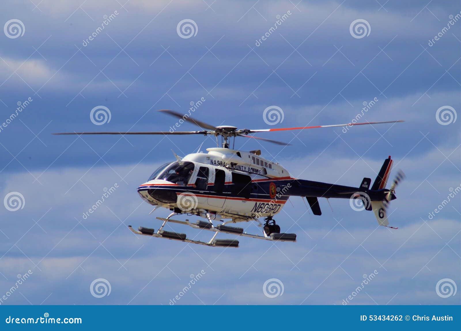 Helicóptero policial del condado de Nassau NY