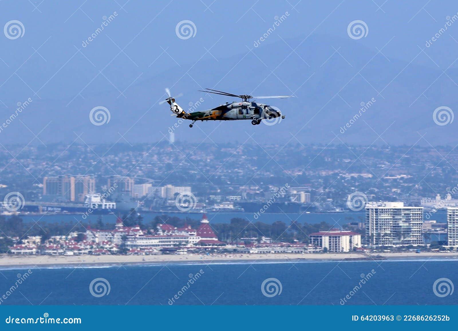 Helicóptero sobre San Diego