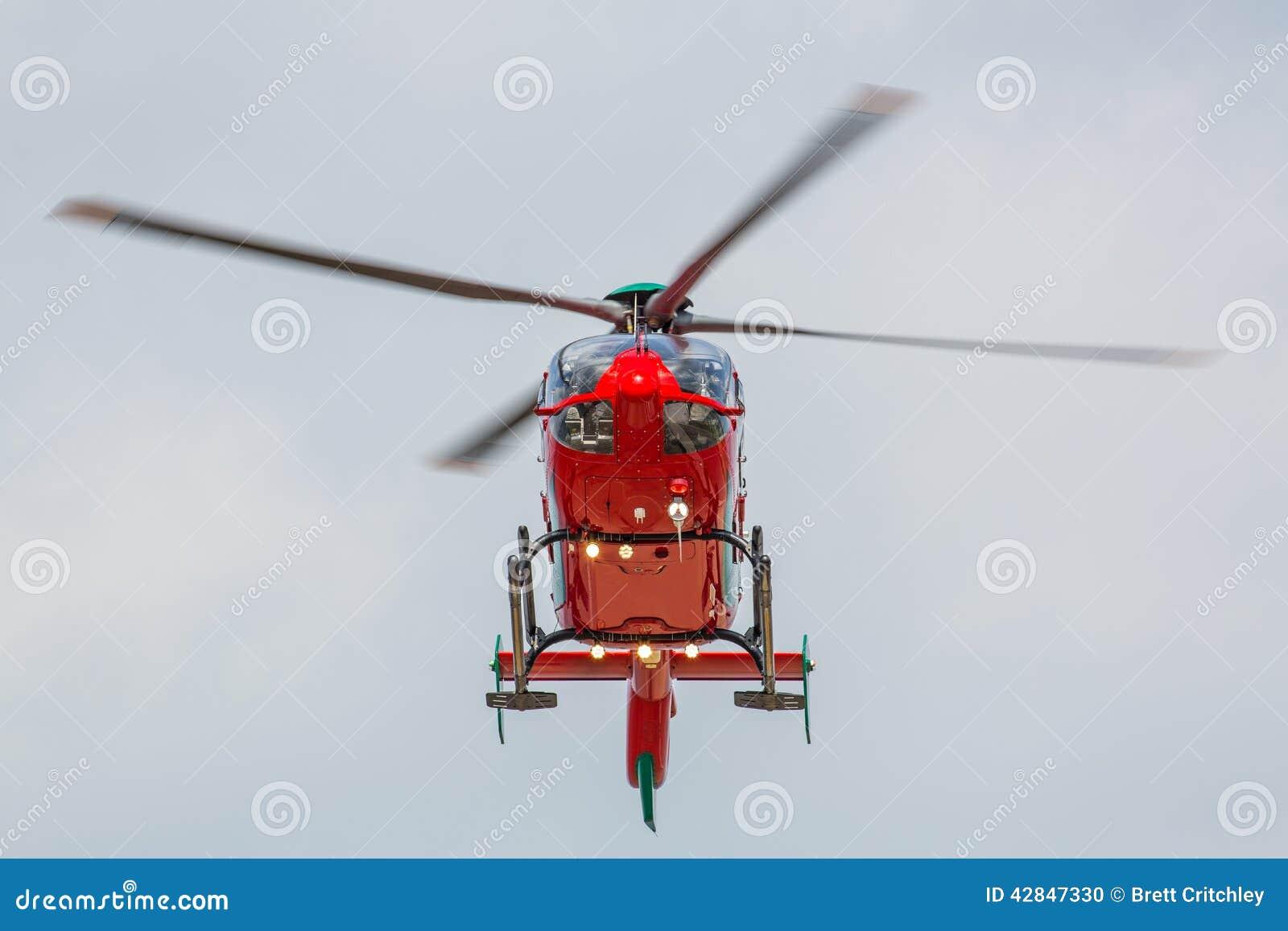 Helicóptero vermelho