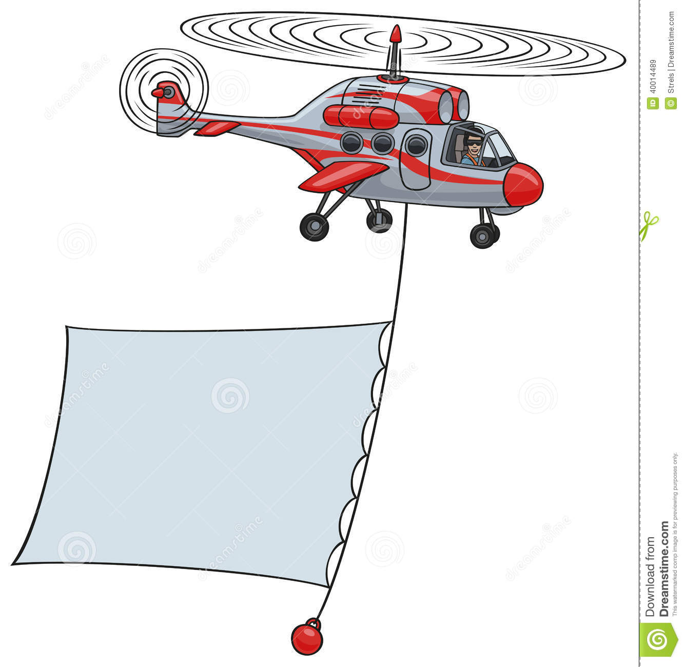 Helicopter With Banner Stock Vector Image