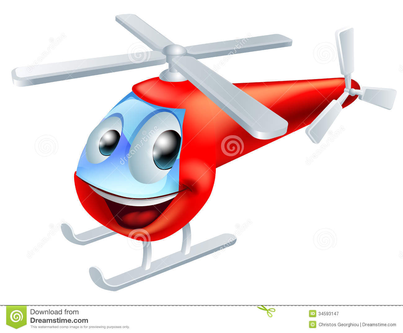 Helicopter cartoon character