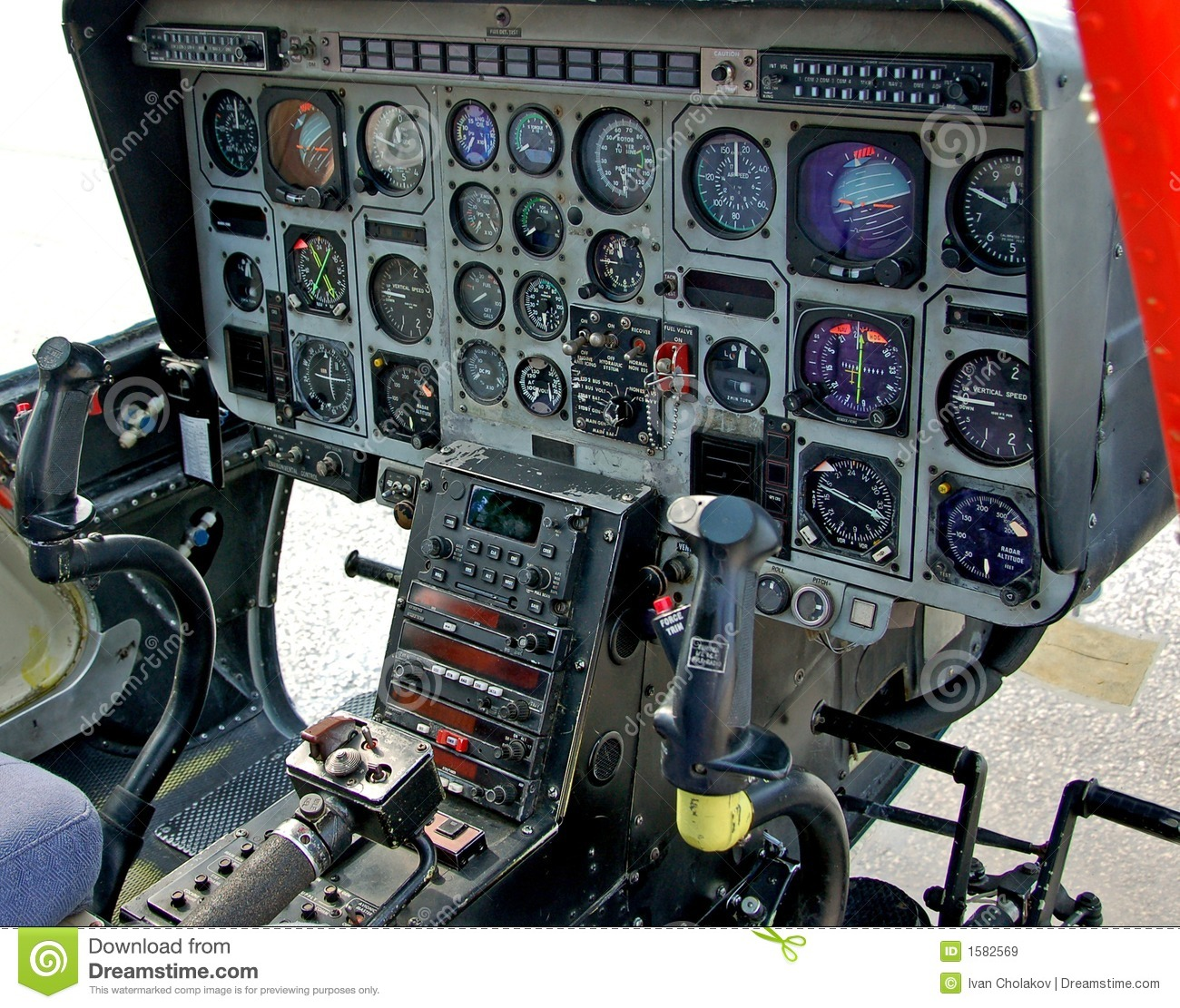 helicopter cockpit stock image  image of aircraft