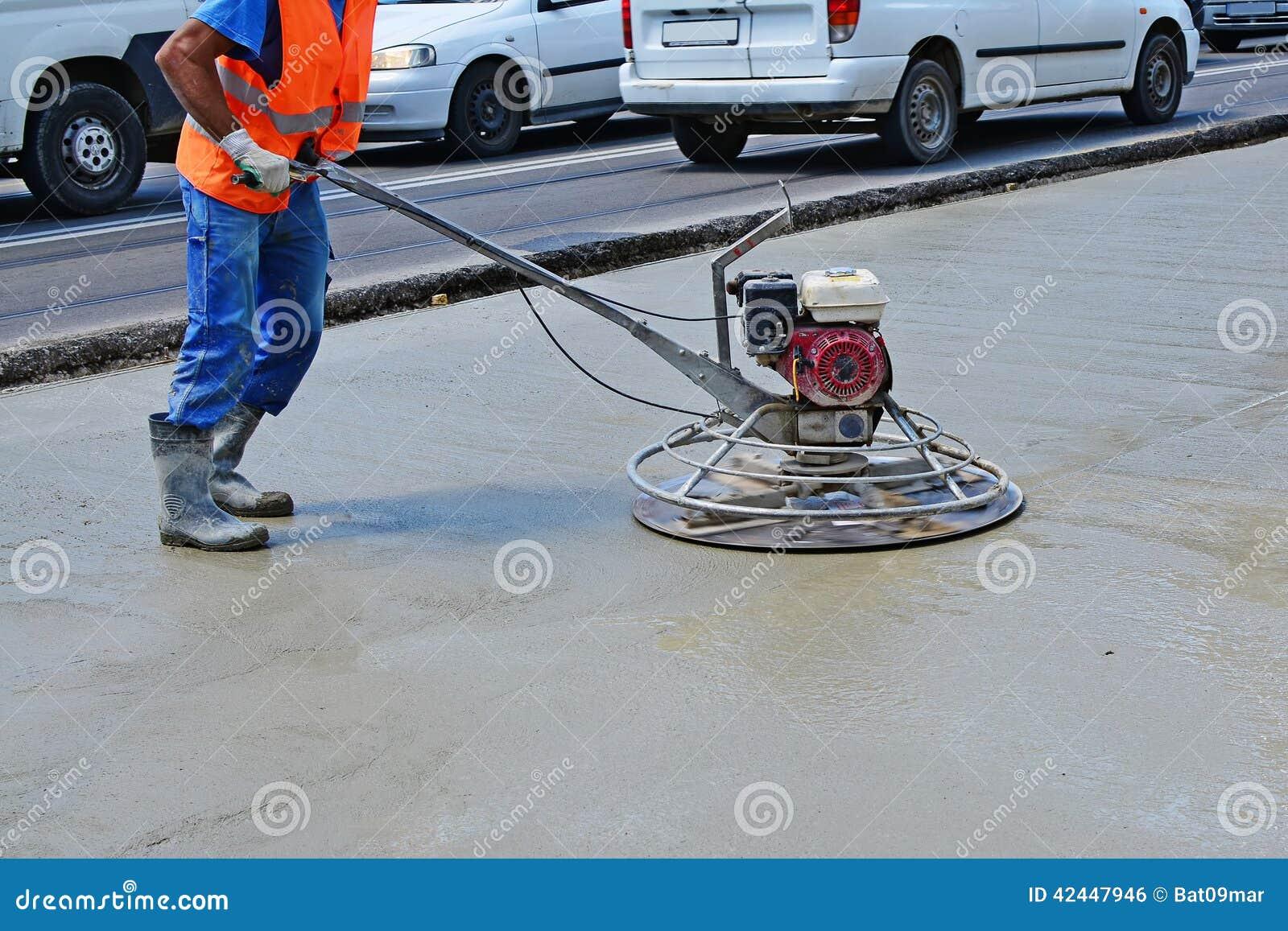 Helicopter Concrete Finishing Stock Photo - Image: 42447946