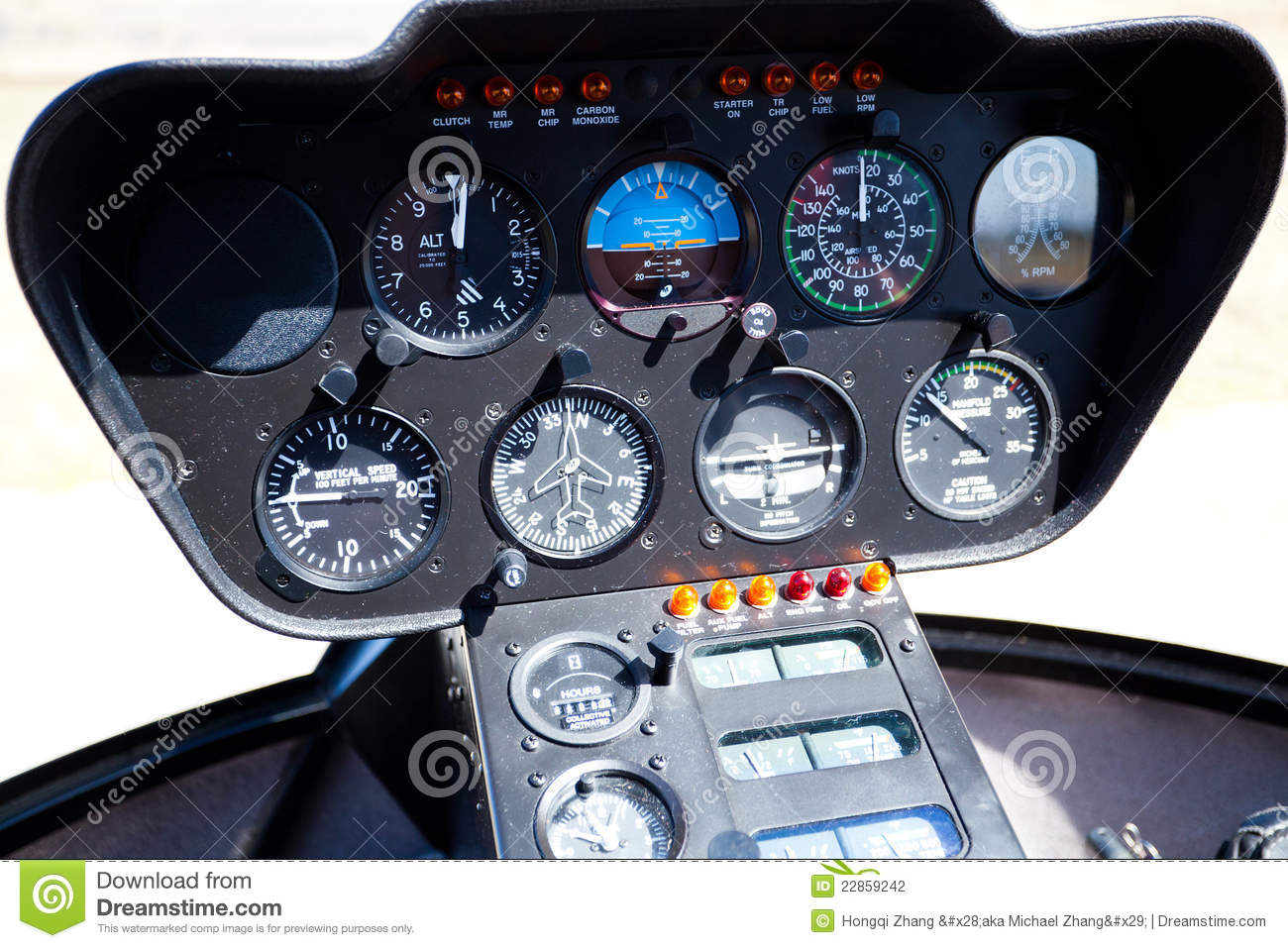helicopter control panel stock photography image 22859242