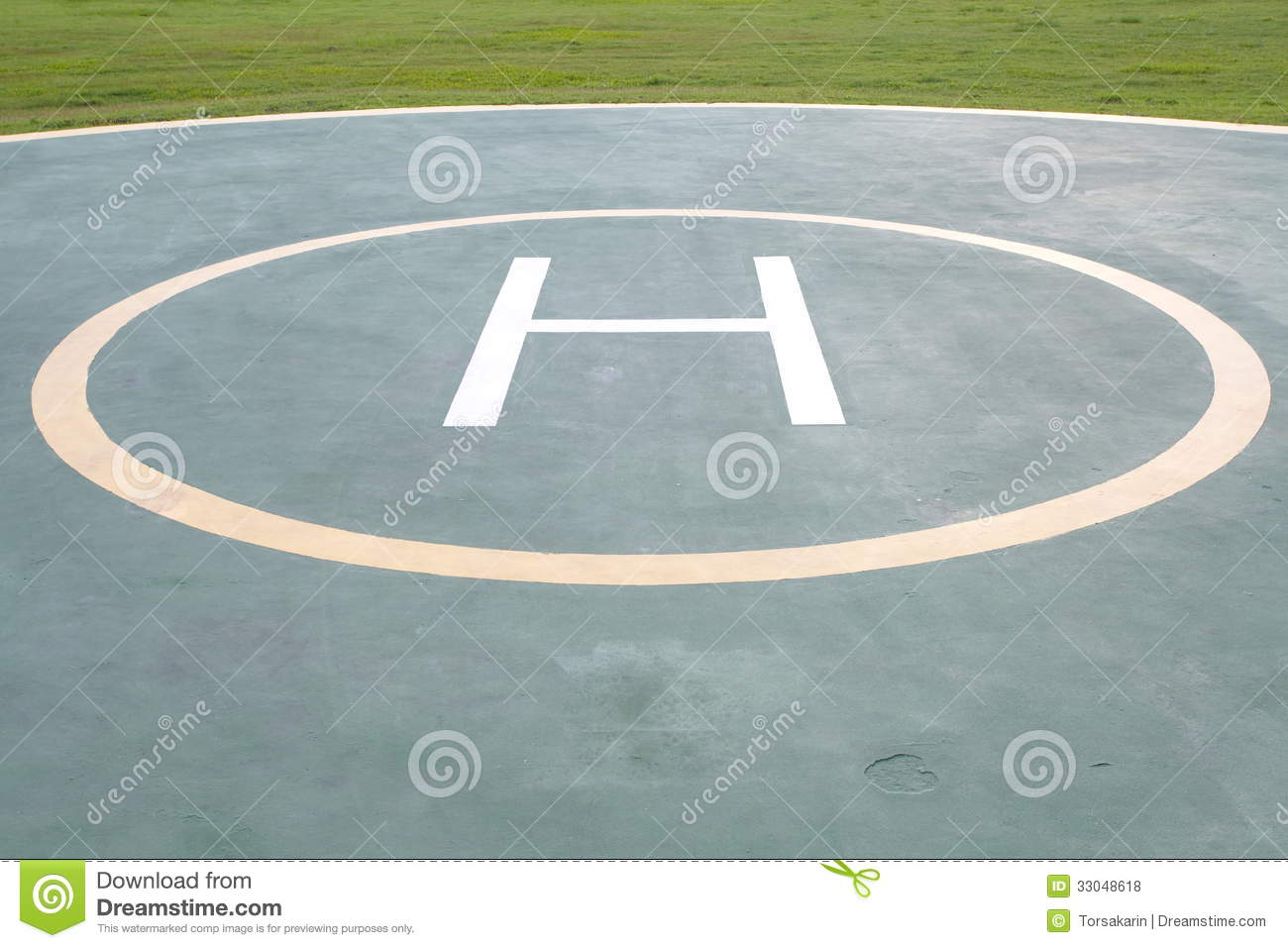 Helicopter Landing Pad Royalty Free Stock Photos Image