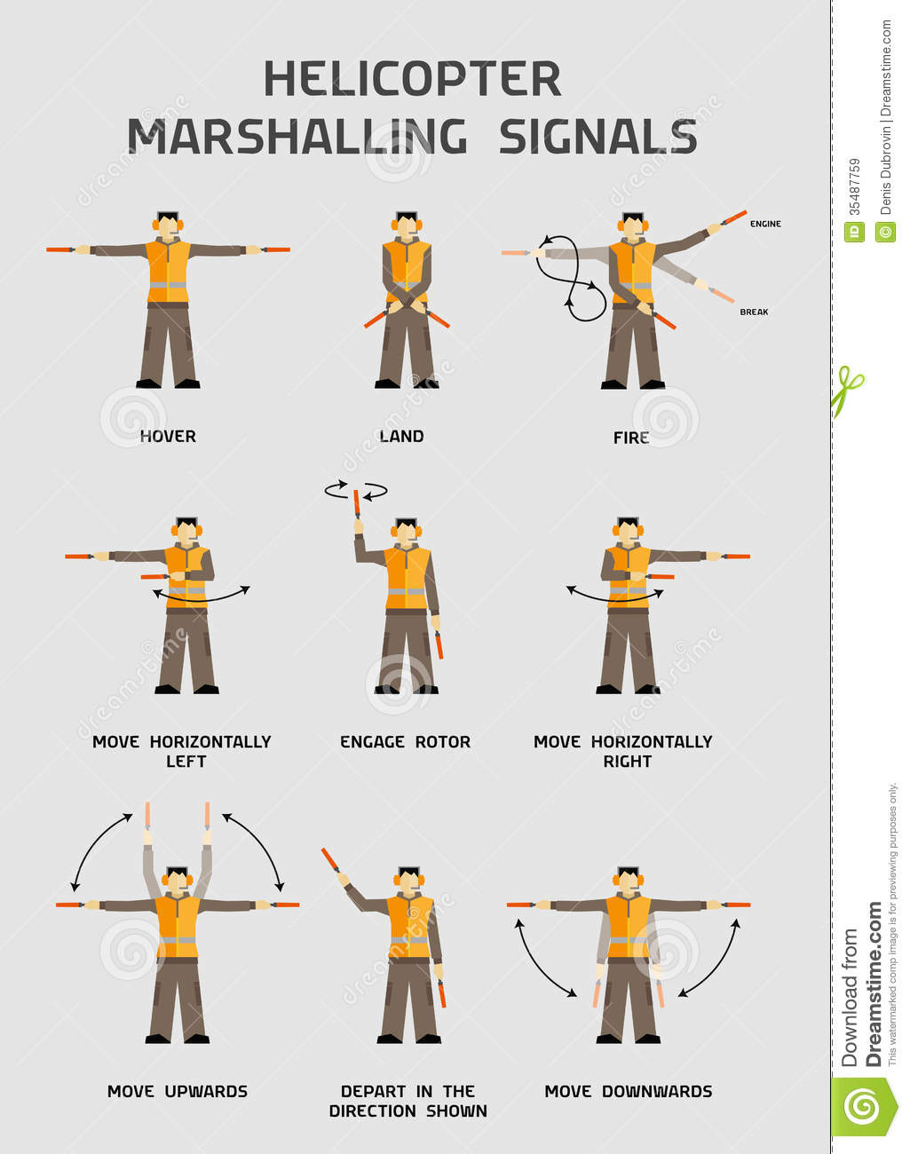 Helicopter Marshalling Signals Royalty Free Stock Images - Image ...