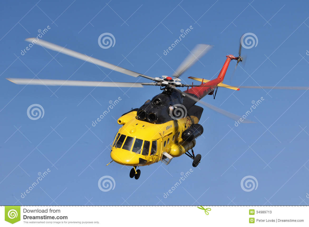 Helicopter Mi 171 In Flight Editorial Stock Photo