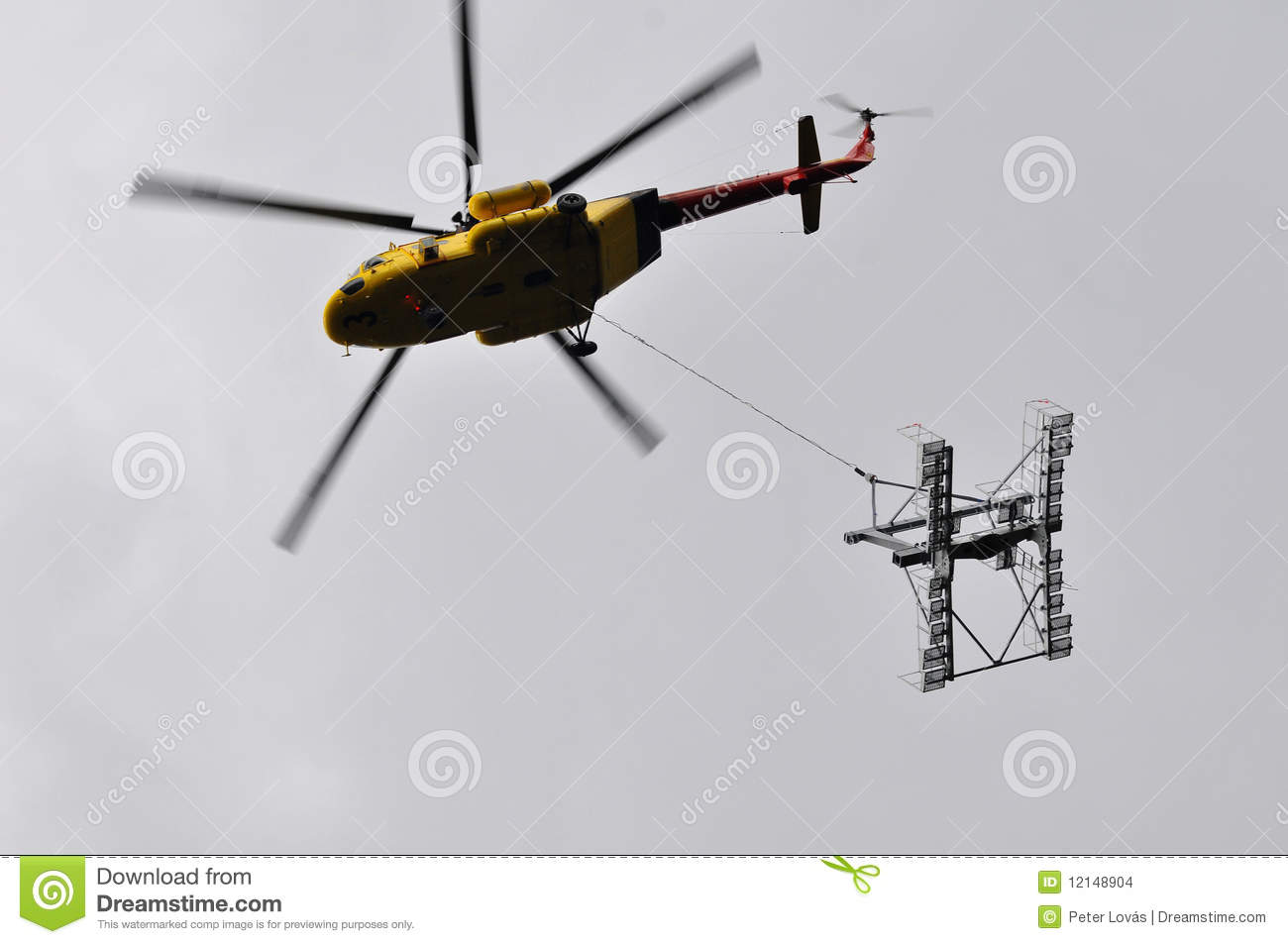 Helicopter Mounting (Wire-Rope Pulley Battery) Stock Photo 12148904 ...