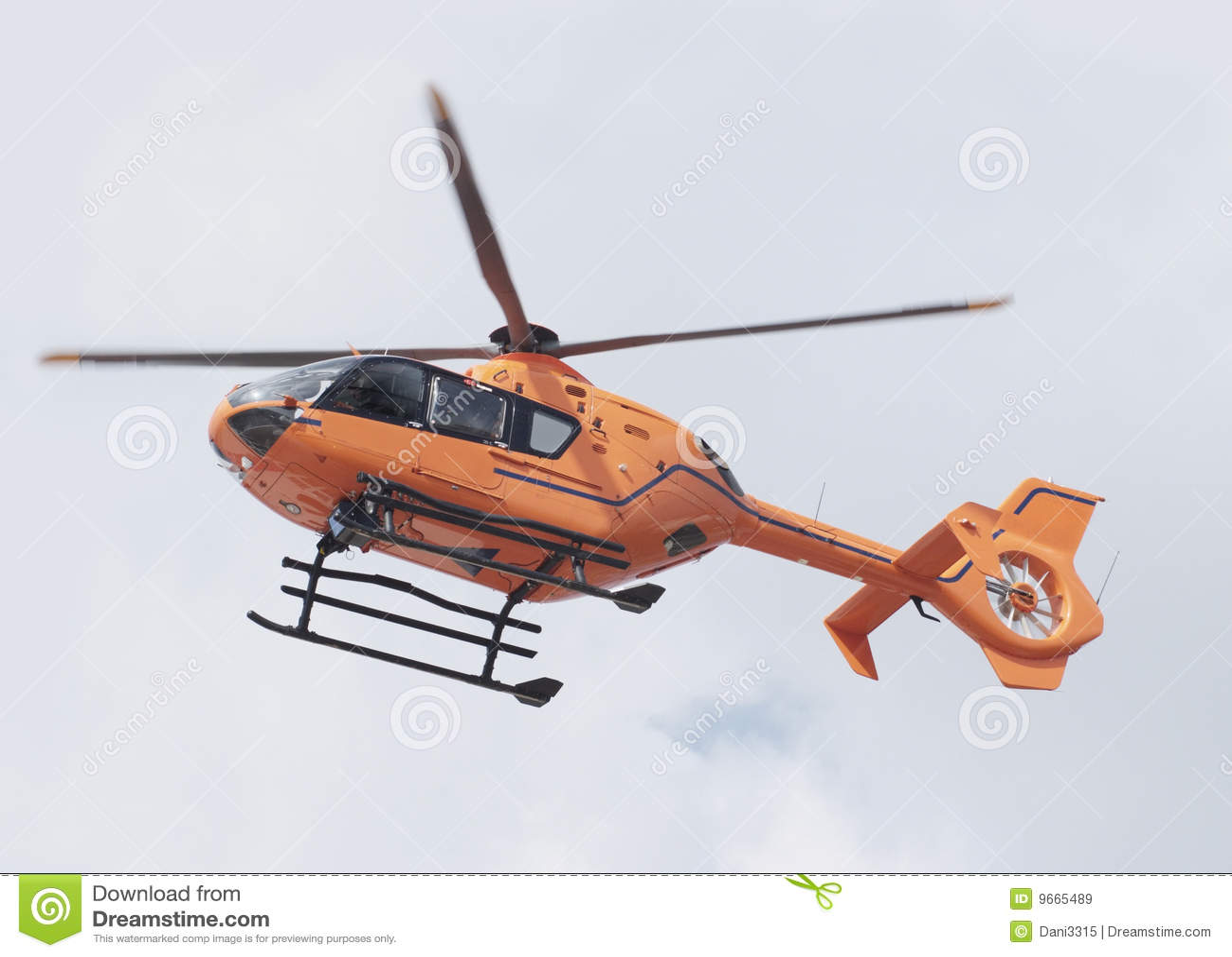 Helicopter orange rescue