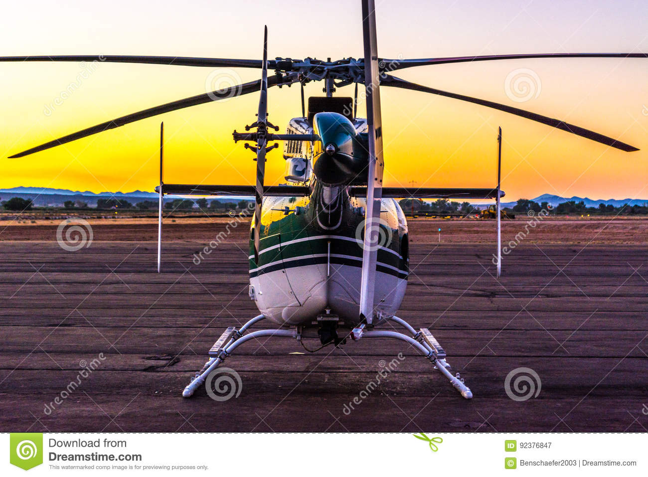 Helicopter on the Ramp