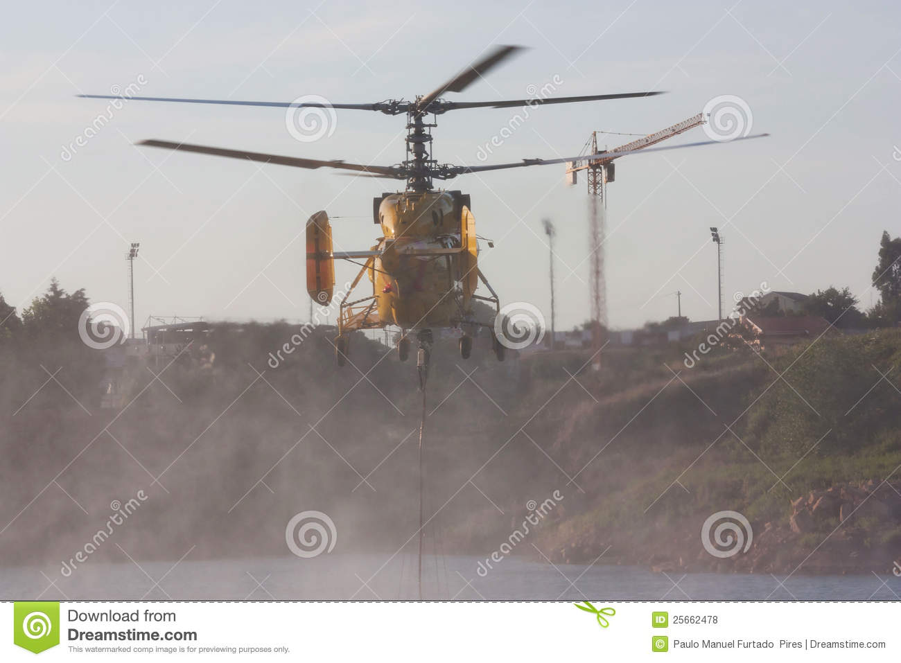 Download Helicopter  scooping water editorial stock photo. Image of blaze - 25662478