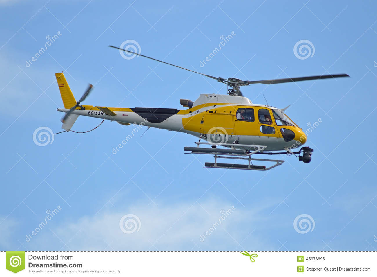 Helicopter Used By Film Crew