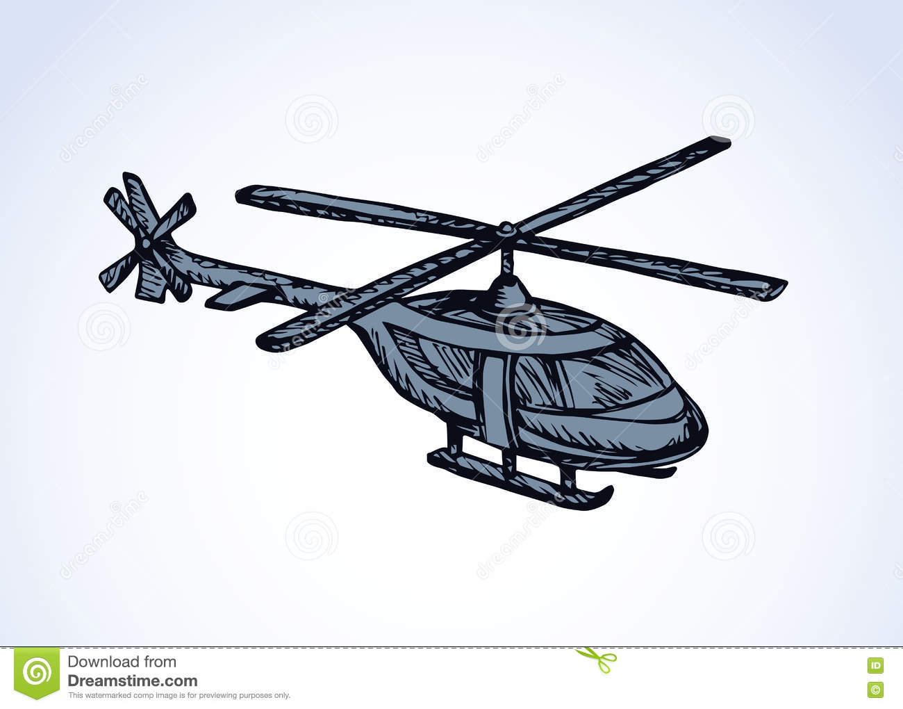 Helicopter  Vector drawing stock vector  Illustration of