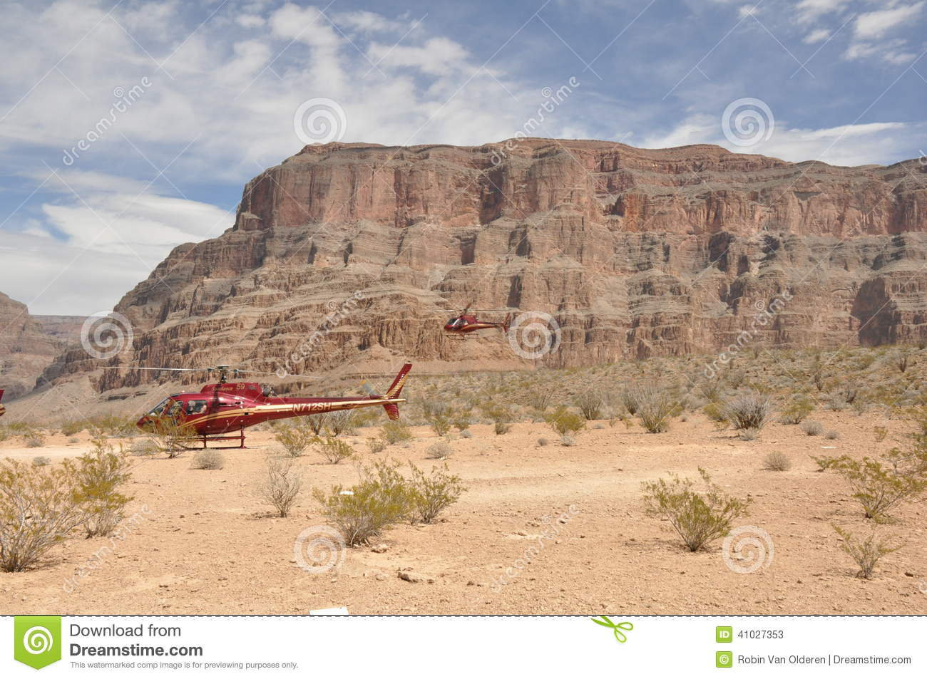 Helicopters Landing In Grand Canyon Editorial Stock Photo  Image 41027353