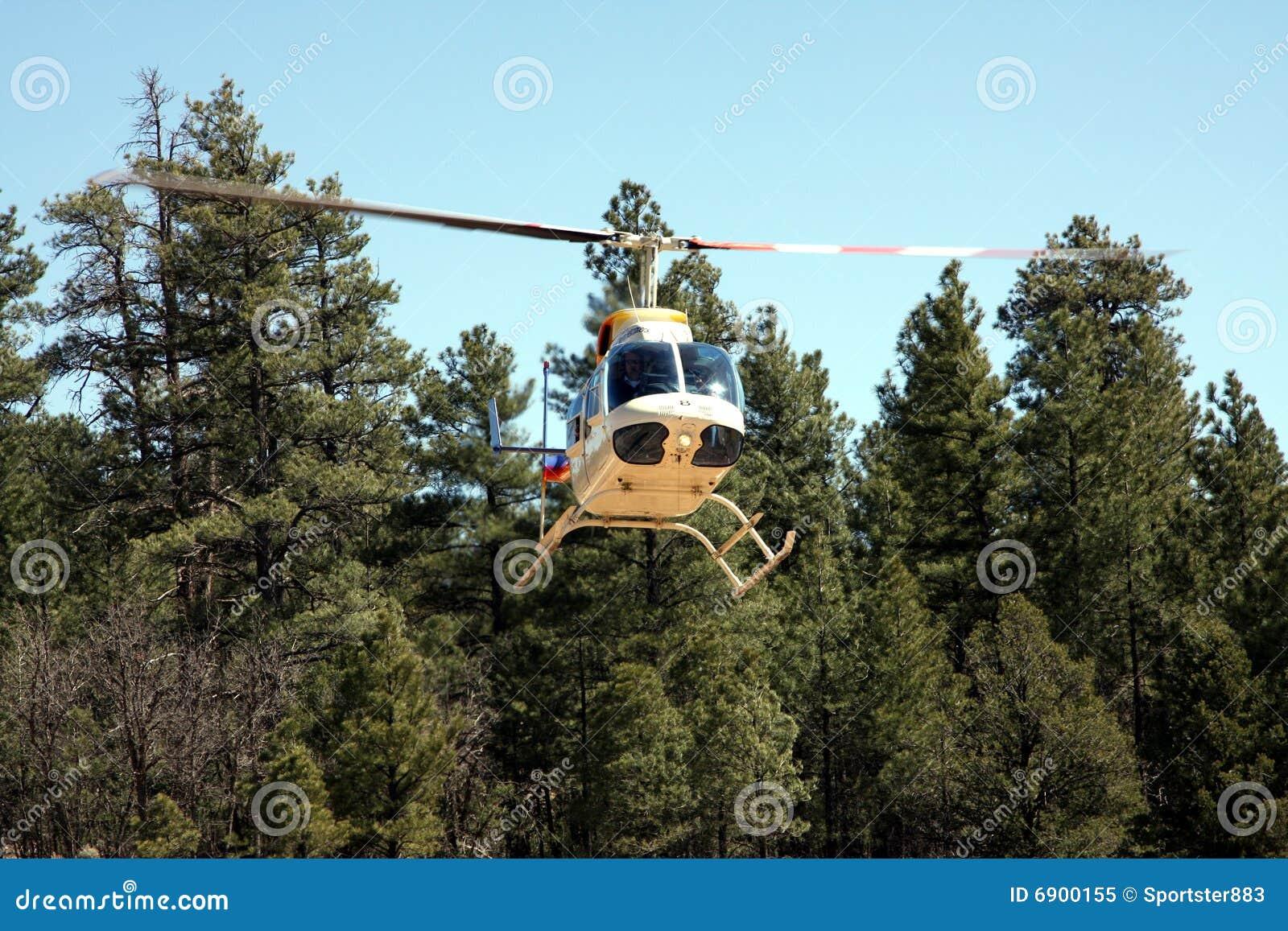 Helikopter in bos