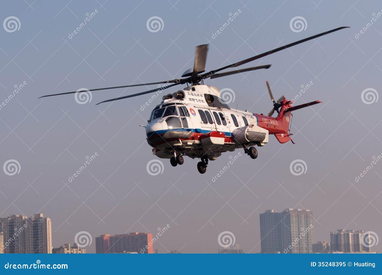 Helikopter för räddningsaktion EC225