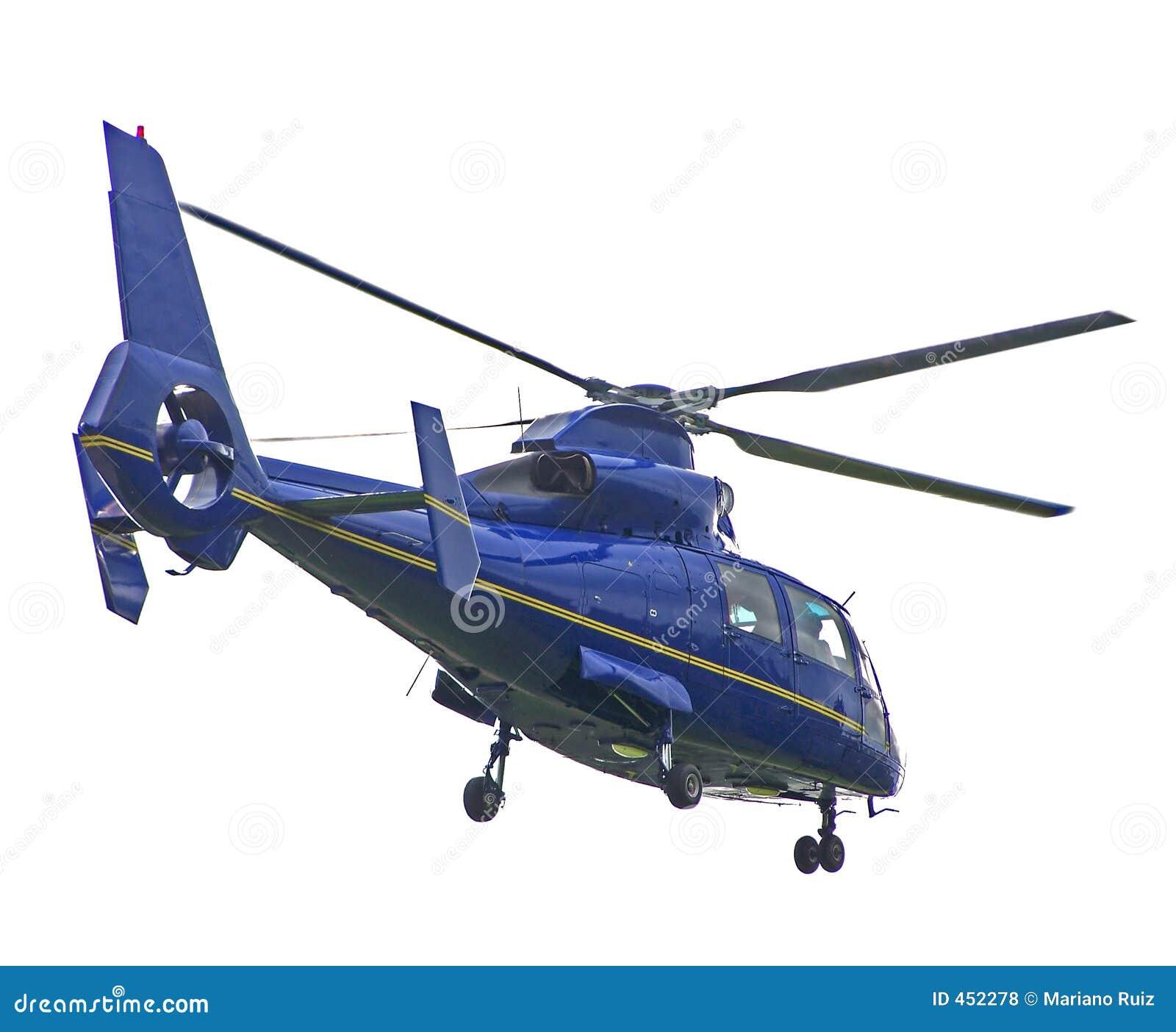 Helikopter odizolowane niebieski